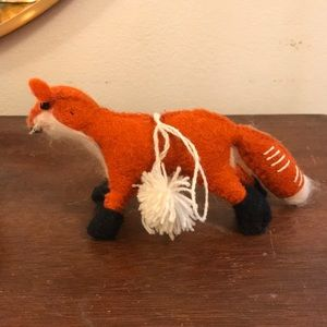 Anthropologie Felted Fox Ornament